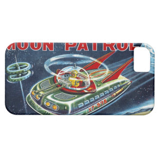 Vintage Sci-Fi Moon Patrol Space Robot Toy Box Art iPhone SE/5/5s Case