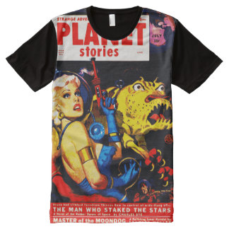 VINTAGE SCI FI PLANET STORIES DESIGN All-Over-Print T-Shirt
