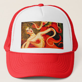 VINTAGE SCI FI PULP ILLUSTRATION Trucker Hat