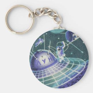 Vintage Sci Fi - Space Travel / UFO Keychain
