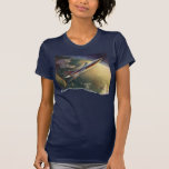 Vintage Science Fiction Airplane Spaceship Earth T Shirts