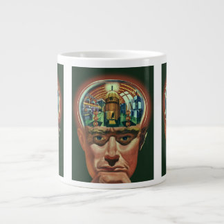 Vintage Science Fiction, Alien Brain in Laboratory Large Coffee Mug