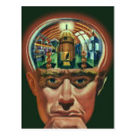 Vintage Science Fiction, Alien Brain in Laboratory Postcard