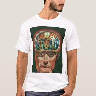 Vintage Science Fiction, Alien Brain in Laboratory T-Shirt