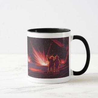 Vintage Science Fiction Alien Red Planet Explosion Mug
