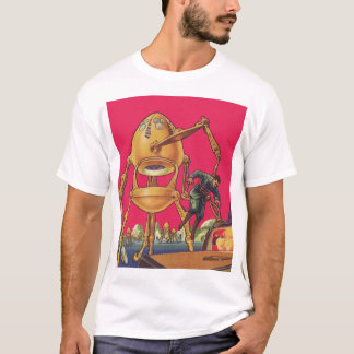 Vintage Science Fiction Alien Robot Captures Man T-Shirt