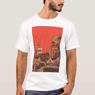 Vintage Science Fiction, Alien Steam Punk Helmets T-Shirt