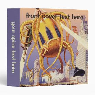 Vintage Science Fiction Alien War Invasion Octopus Binder
