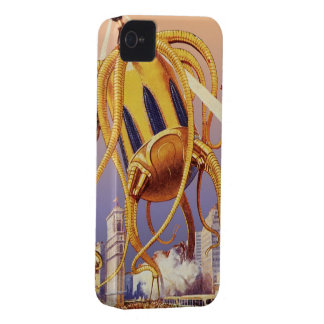 Vintage Science Fiction Alien War Invasion Octopus Case-Mate iPhone 4 Case