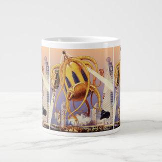 Vintage Science Fiction Alien War Invasion Octopus Large Coffee Mug