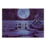 Vintage Science Fiction Aliens and Moon Rover Posters
