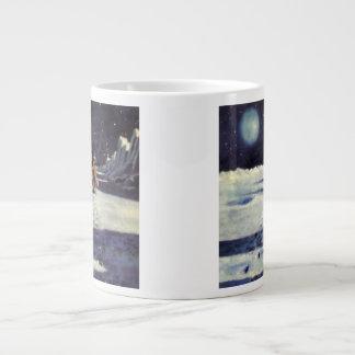 Vintage Science Fiction Aliens on the Moon Extra Large Mug