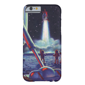 Vintage Science Fiction Aliens Wave to Rocket Barely There iPhone 6 Case