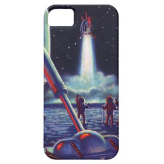 Vintage Science Fiction Aliens Wave to Rocket iPhone 5 Covers