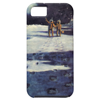 Vintage Science Fiction Astronaut Aliens on Moon iPhone SE/5/5s Case