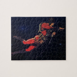 Vintage Science Fiction Astronaut in Outer Space Jigsaw Puzzle