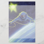 Vintage Science Fiction Astronaut on a Space Walk