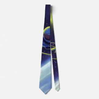 Vintage Science Fiction Astronaut on a Space Walk Neck Tie