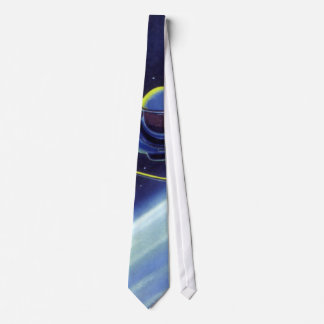 Vintage Science Fiction Astronaut on a Space Walk Tie