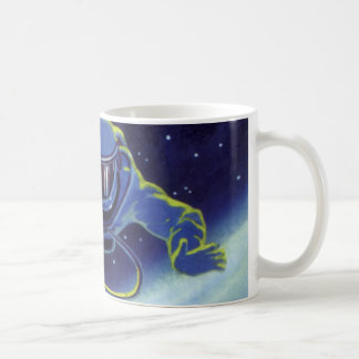 Vintage Science Fiction Astronaut on a Spacewalk Coffee Mugs