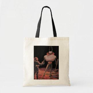 Vintage Science Fiction Astronaut Shake Hand Alien Tote Bag