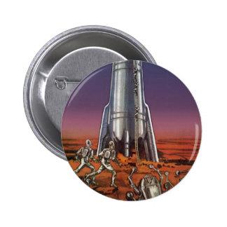 Vintage Science Fiction, Astronauts, Beetle Aliens Pins