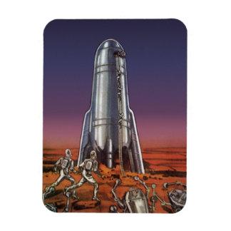 Vintage Science Fiction, Astronauts, Beetle Aliens Flexible Magnets