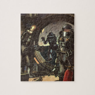Vintage Science Fiction Astronauts on a Space Walk Jigsaw Puzzle