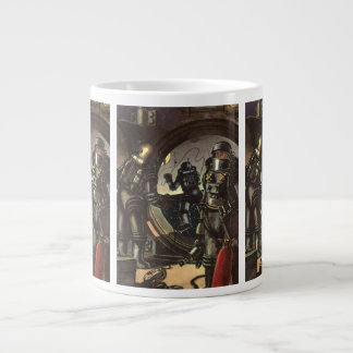 Vintage Science Fiction Astronauts on a Space Walk Large Coffee Mug