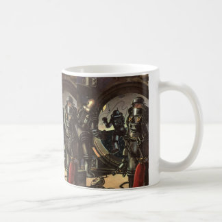 Vintage Science Fiction Astronauts on a Spacewalk Mugs