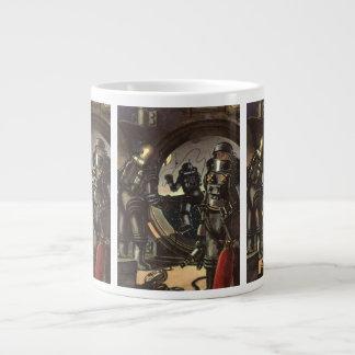Vintage Science Fiction Astronauts on a Spacewalk Jumbo Mug