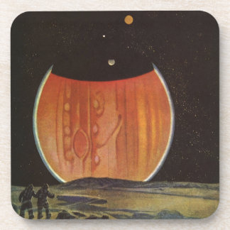 Vintage Science Fiction, Astronauts on Ganymede Coasters