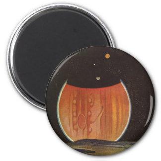 Vintage Science Fiction, Astronauts on Ganymede Fridge Magnet