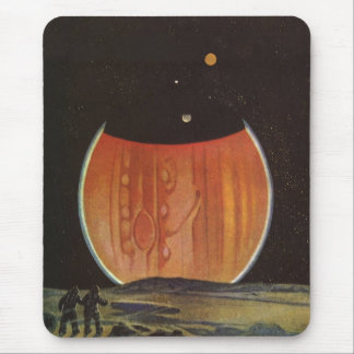 Vintage Science Fiction, Astronauts on Ganymede Mouse Pad
