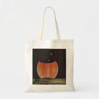 Vintage Science Fiction, Astronauts on Ganymede Tote Bag