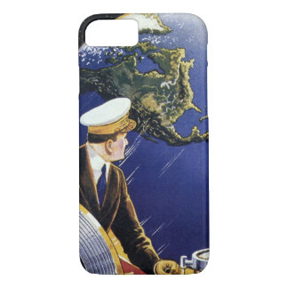 Vintage Science Fiction Astronauts Orbiting Earth iPhone 7 Case