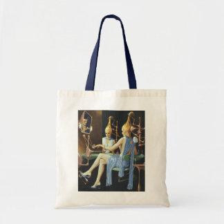 Vintage Science Fiction Beauty Salon Spa Manicures Budget Tote Bag