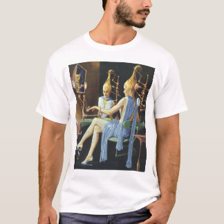 Vintage Science Fiction Beauty Salon Spa Manicures T-Shirt