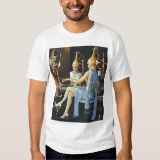 Vintage Science Fiction Beauty Salon Spa Manicures Tee Shirt