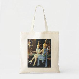 Vintage Science Fiction Beauty Salon Spa Manicures Tote Bag