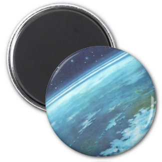 Vintage Science Fiction, Blue Earth, Night Stars Magnets
