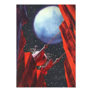 Vintage Science Fiction, Canyon Space Moon Rover Card
