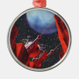 Vintage Science Fiction, Canyon Space Moon Rover Metal Ornament