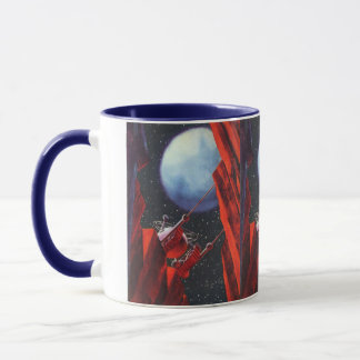 Vintage Science Fiction, Canyon Space Moon Rover Mug