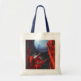 Vintage Science Fiction, Canyon Space Moon Rover Tote Bag