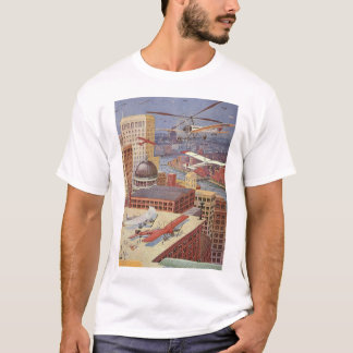 Vintage Science Fiction City, Steam Punk Machines T-Shirt