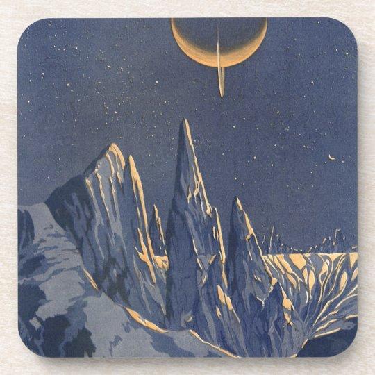 Vintage Science Fiction, Crescent Moon Snow Planet Coaster