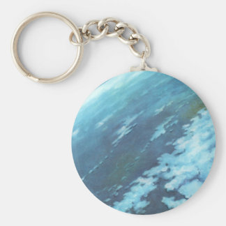 Vintage Science Fiction, Earth at Night with Stars Key Chains