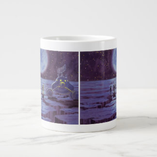 Vintage Science Fiction Earth Rover Aliens on Moon Giant Coffee Mug