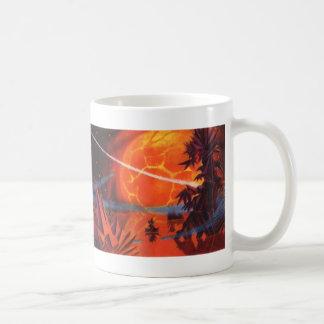 Vintage Science Fiction, Fiery Fire Sci Fi Planet Coffee Mug